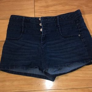 JC Penny high waisted jean shorts